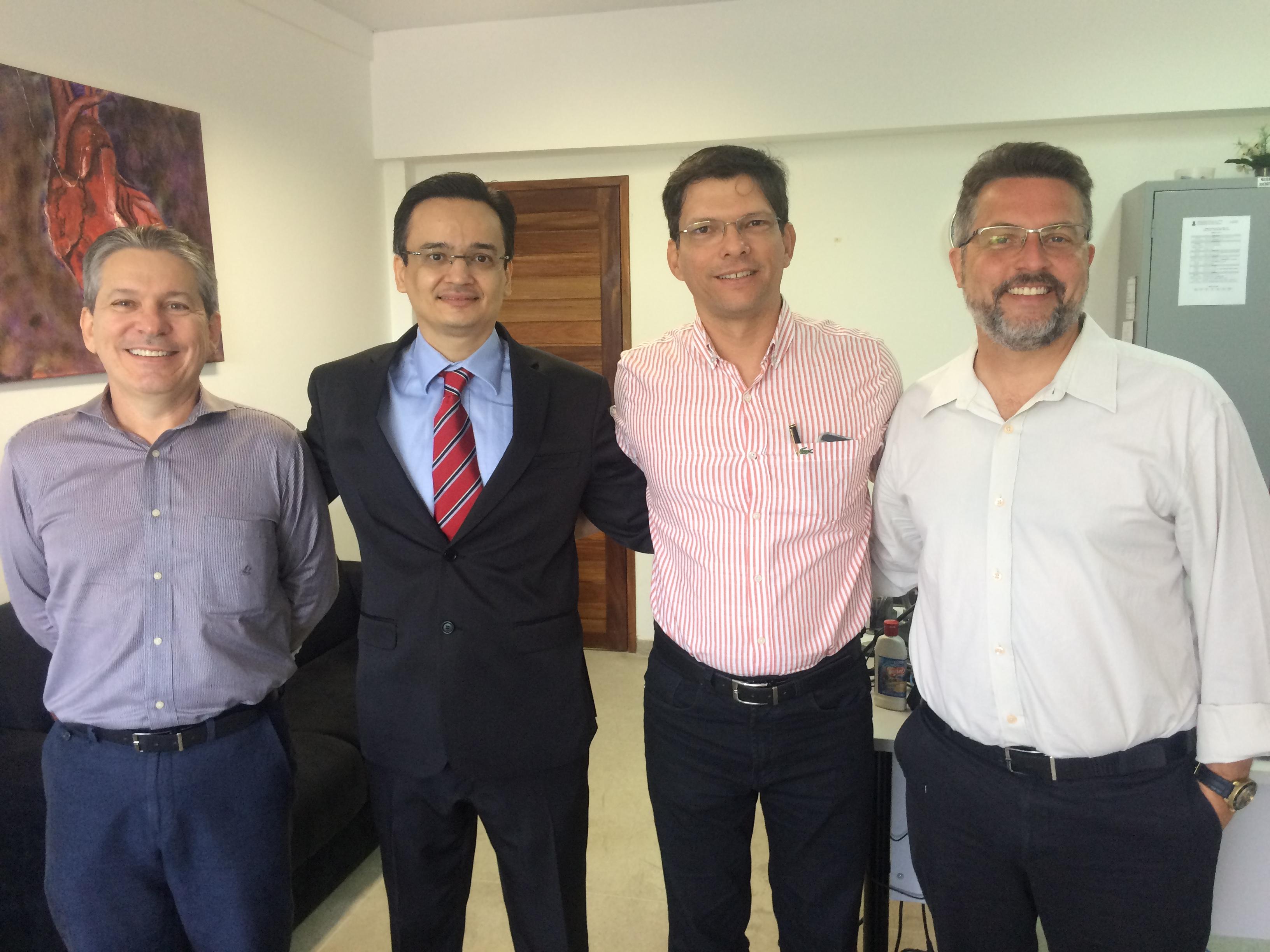da esq. para dir.: Paulo José de Medeiros, José Iran de Medeiros Lacerda, Arlindo Monteiro de Carvalho Junior e Fábio de Oliveira Vilar