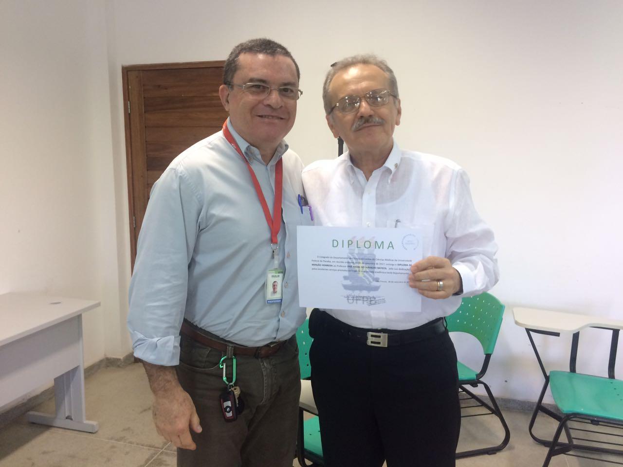 Aposentadoria do professor Josias Batista